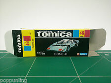 REPRODUCTION BOX for Tomica Black Box No.46 DOME-0