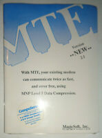 MTE 2.1 with add-ons, by MagicSoft. 1989. MINT, SEALED.
