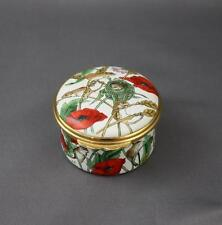 Halcyon Days Poppies And Mice Trinket Box Hinged Mouse Poppy England