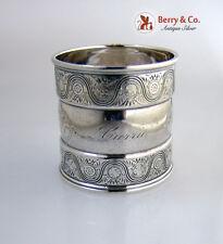Gorham Napkin Ring Sterling Silver 1882