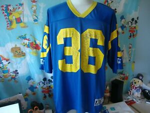 Vintage 90's Los Angeles Rams Jerome Bettis Starter Jersey 48 L