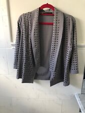 Womens NWOT Blaque Label Taupe Open Front Blazer Jacket Rivets Small Sold Out!!