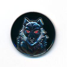 Wolf Raubtier Mystik Fantasie Gothic Edel Metall Button Pin Anstecker 0159