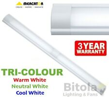 NEW TRI-COLOUR CCT MERCATOR METRO 1200mm 48w LED CEILING BATTEN LIGHT MF3648CCT