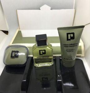 PACO RABANNE Pour Homme: After Shave-0.67 OZ +Shower Gel-1.0 oZ + Soap-0.9 Oz