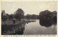 JUNCTION OF THE PORTAGE AND ST. JOE RIVERS AT VAN ALSTYN PARK, THREE RIVERS, MI.