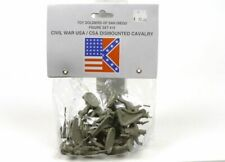 Toy Soldiers Of San Diego Civil War CSA Dismounted Cavalry Set 15 Gray Figures