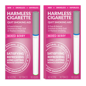 Harmless Cigarette Natural Stop Smoking Aid Satisfying Mixed Berry Flavored 2pk