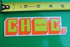 Chocolate Skateboards Girl 3D Neon Block Choc Z9 Vintage Skateboarding Sticker