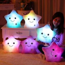 Toy Bunt LED Toys Luminous Five Stars Glow Licht Kissen Plush Stuffed Dekokissen