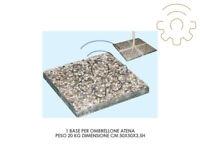 1 base per ombrellone in ghiaino graniglia 20 kg 50 x 50 cm marmetta marmette