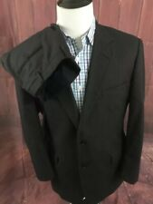 Brooks Brothers 1818 Madison Loro Piana Charcoal Gray Mens Striped Suit 43R/38W