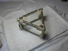 Antique French Jewelry Dresser Trinket Box France Art Deco Nouveau Beaded Silk