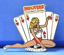 HOOTERS RESTAURANT ROYAL FLUSH POKER CASINO HOTEL GIRL LAS VEGAS LAPEL PIN