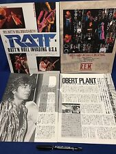 Ratt REM Robert Plant Kenny Loggins Clipping Japan Magazine Pop Gear 1985 No.1