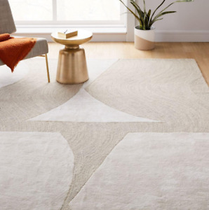 John Lewis & Partners BOLD CUT-OUT Stone White Rug - 244cm x 305cm **RRP £899**