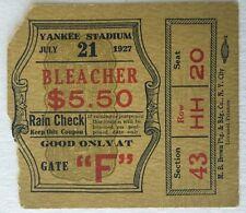 1927 Dempsey vs Sharkey Ticket Stub Heavyweight Boxing Match