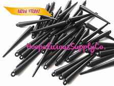 25 Large Matte Black Acrylic Spikes-52mm