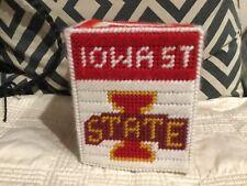 Iowa State ~Handmade Yarn Square Tissue Box Cover