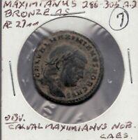 206-305 A.D. Maximianus - Bronze Coin -  Superfleas