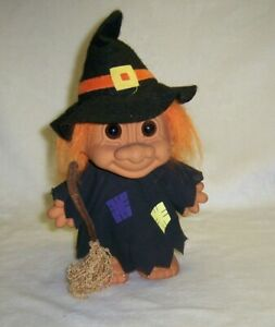 Vintage TROLL LARGE 9 INCH RUSS  WITCH