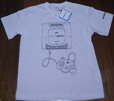 OFFICIAL LICENCED Sega Saturn White Adult T-shirt L(JAP) M(UK) Japanese