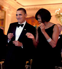 Barack Obama and Michelle Obama UNSIGNED photo - K3141 - Dancing!!!!!