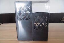 2 Stück Teelichthalter,  Kerzenhalter, Kerzenständer Höhe 14 und 19 cm schwarz