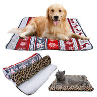 Pet Beds for Small Large Dogs Cats Fleece Sleep Mat Cushion for Kennel Crates