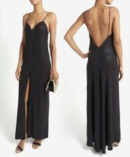L'AGENCE Intermix Spaghetti Strap Gown Long Maxi Dress in Black Size 0