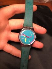 """Swatch Gents Watch """"SOGNO"""" 1990 GV101 w/ New Battery"""