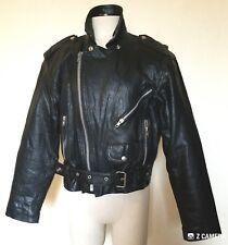 Vintage Nicole Sarhady Rugged Black Motorcycle Jacket Size S/M