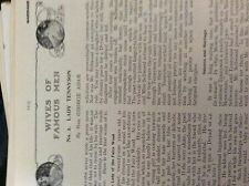 m10-9c ephemera 1905 article lady tennyson wives of famous men