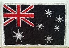 AUSTRALIA Flag Patch with VELCRO® brand fastener Military B & W