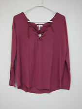 Victoria's Secret PINK Lace Up Hi Lo T-Shirt - Womens XS - Pink - NWT