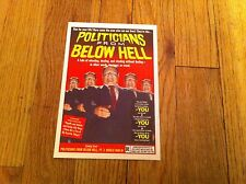 Politicians From Below Hell Politcal Humor Postcard Oversize Matty Groening new