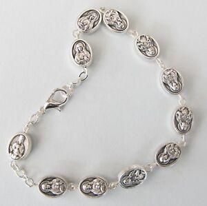 Handmade Sacred Heart/Immaculate Heart of Mary Rosary Bracelet
