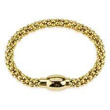 Length 8 9/32in Width 0 1/4in Gold Bracelet Stainless Steel Hollow Bubble