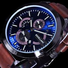 Excellanc Uhr Herrenuhr Armbanduhr Blau Braun Anthrazit Datum