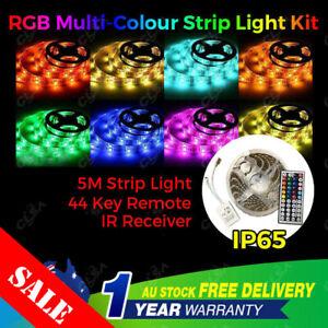 5M RGB 5050 SMD 60LEDs/m Waterproof 12V Led Strip Light Plus 44 Key Remote IP65