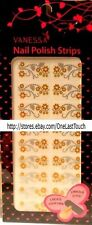 VANESSA 20 Nail Polish Strip/Decal/Stickers GOLD+SILVER FLOWERS Set NSW-08