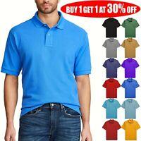 Men's Polo Shirt Golf Sports Cotton Short Sleeve Jersey Casual Plain T Shirt