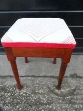 Vintage / Retro 1950s Small Wooden Oak Stool - Made By Bruce USA c.1951