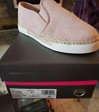 NIB Ladies Women Vince Camuto VP-Tambie Seashell Pink Suede slip on loafer  Sz 8