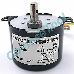 Synchronous Motor 50KTYZ AC 110V 120V 50/60Hz 50/60Hz 8r/m CW/CCW 6W