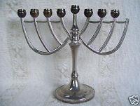 "Godinger Hanukkah Vintage Silver Plated Candle Holder 5 3/4"" X 7""  Menorah"