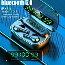 True Wireless Earbuds TWS Bluetooth 5.0 in-Ear Stereo Earphones LED Display USA