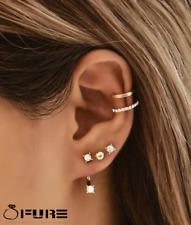1 Piece Minimalist Non Pierced Ear Cuff Gold Silver Gold Cubic Zirconia Clip on