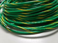 12 AWG GREEN W/YELLOW THHN THWN-2 THWN STRANDED COPPER WIRE 25 FEET GROUND