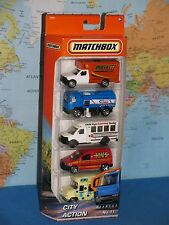 MATCHBOX 5 PACK CARS CITY ACTION No.11 DIECAST METAL ***BRAND NEW***